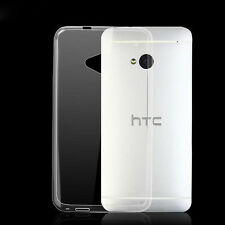 Slim Soft TPU Gel Silicone Transparent Clear Crystal Case Cover For HTC One M7