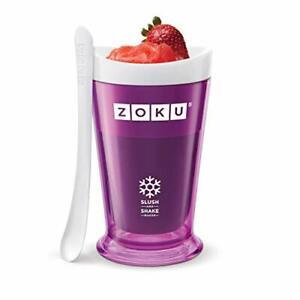 Zoku Slush and Shake Maker Compact Make and Serve Cup with Freezer Core Creat...