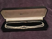 LOTUS SIMULATED PEARLS NECKLACE 2 ROWS WITH 9 ct GOLD CLASP