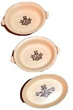 Phaltzgraff Village Yellow Brown Lot of 3 Serving Oval Casserole Dishes MAY2020