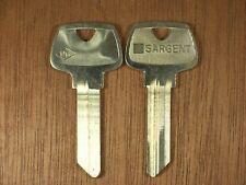 2 Sargent Original Key Blank RG 6 Pin O1007RG Blank Keys