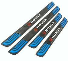 4PCS Blue Rubber Car Door Scuff Sill Cover Panel Step Protector For Honda