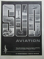 5/1967 PUB SUD AVIATION CONCORDE AIRBUS PUMA ALOUETTE FRELON LAMA ORIGINAL AD