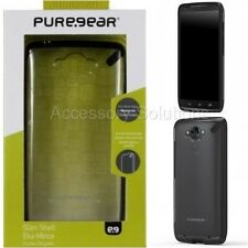 Puregear Motorola Droid Turbo Slim Shell Impact Case Cover Clear W/ Black Trim
