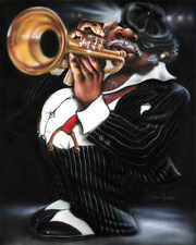 Jazzman Papa Joe Leonard Jones Ethnic African American Music Print Poster 18x22