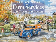 Farm Services Cars, Trucks And Tractors small steel sign 200mm x 150mm (og)