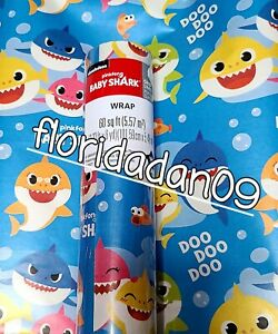 2 Rolls Baby shark Gift Wrapping Paper, 60Sqft Each See description