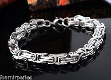 1 Bracelet Chaîne Acier inoxydable Fermoir Bijoux Rétro Homme gotique 22cm