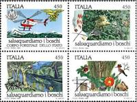 # ITALIA ITALY - 1984 - Nature to be saved Animal Flower Tree - 4 Stamps MNH