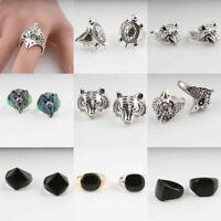 Fashion Men Women Stainless Steel Lion Animal Finger Ring Jewelry Gift Size 7-12