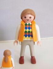 PLAYMOBIL (3330) MODERNE - Femme Cheveux Beige Clair Gilet & Pantalon Beige