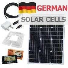 60W 12V dual battery solar charging kit campervan, motorhome, camper, canal boat