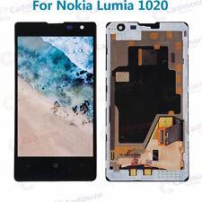 Schwarz Für Nokia Lumia 1020 LCD Display Touch Screen Digitizer Rahmen ARDE