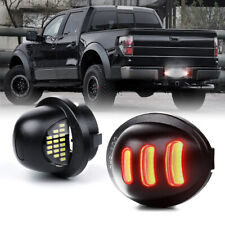 White LED License Plate Light Assembly w/ Red Running Lamp For 90-14 Ford F-150