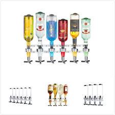 4 Bottle Wall Bracket Mounted Holder Wine Liquor Dispenser Alcohol Drink
