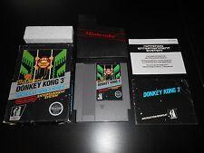 Donkey Kong 3 III Complete Nintendo NES Game CIB Arcade Classics Series