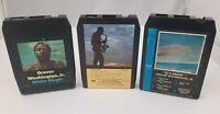 Grover Washington Jr 8 Track Tapes Set of 3 Skylarkin Come Morning Mister Magic