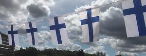Finland Finnish Fabric Bunting various lengths Free 1st Class Post