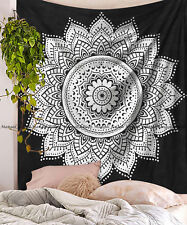 Indian black ombre tapestry mandala wall hanging hippie bohemian bedspread throw
