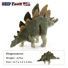 """Jurassic Realistic Stegosaurus Dinosaur Model 6.7"""" Long Figure For Kids Toy Gift"""