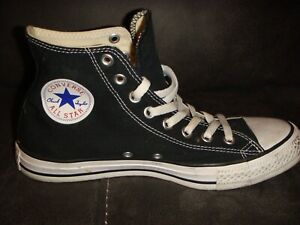 CONVERSE ALL STAR CANVAS HI-TOP BOOTS TRAINERS - BLACK - SIZE 7 UK ADULT -K34