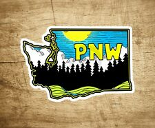 "Washington Pacific Northwest Decal Sticker 4"" x 2.6"" Nature Forest Woods"