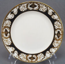 Set of 4 Nippon Hand Painted Black & Gold Scrollwork Moriage Plates C. 1911 - 21
