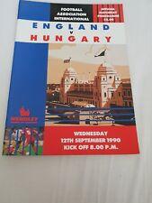 ENGLAND v HUNGARY 12th September 1990 @ Wembley