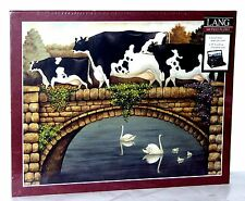 """Lang """"OVER THE BRIDGE"""" 500 Piece Jigsaw Puzzle 18"""" x 24"""" ~New Sealed"""