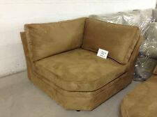 Pottery Barn Pearce Couch Sofa Sectional Nutmeg Everyday Suede Wedge corner