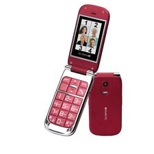 Olympia Becco Plus, rojo tapa móvil personas mayores & teclas grandes &