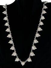 "Judith Ripka 925 Sterling Silver Diamonique Dew Drop Bead Chain Necklace 20"""