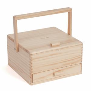 Milward Wooden Sewing Basket Storage Box - Sewing Notions Crafts Gift