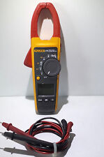 Fluke 375 True RMS AC/DC 600AMPS Clamp Meter with Test Leads and Case