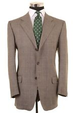 Ermenegildo Zegna Gray Brown Plaid Check TWEED Wool Sport Coat Jacket 52 42 R