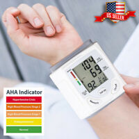AUTOMATIC DIGITAL WRIST BLOOD PRESSURE BP CUFF MACHINE HOME TEST MONITOR DEVICE