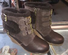 AUSTRALIA LUXE COLLECTIVE MONK WEDGE With Fur Boots Size 8