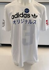 Adidas Originals Multi Hit Japanese White T-shirt Men's Sz L  Large Graphic Tee