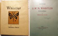 WHISTLER/T.DURET/ED FLOURY/1904/EO/SUR JAPON/EXEMPLAIRE UNIQUE!!!/SYMBOLISME