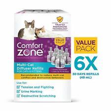 6 REFILL MULTICAT Feliway Comfort Zone FRIENDS Cat Feline Stress Behavior Relief