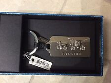 New with Box Coach Silver Horse and Carriage Key fob/Keyring/Key chain #63159