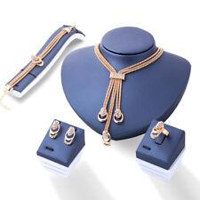 Crystal Necklace Bracelet Ring Earrings Tassel Bridesmaid Wedding Jewelry F2