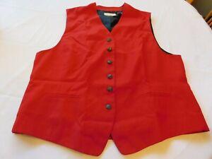 Elisabeth A Liz Claiborne Company Women's Ladies Vest jacket Red Size 1 GUC