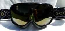 $110 Scott Womens Aura Rare Sequin Black Ski Goggles snow smith Winter Gold Lens