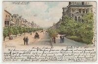 Ansichtskarte Schweden Göteborg - Kungsportsavenyen - Straßenpartie - Litho 1901