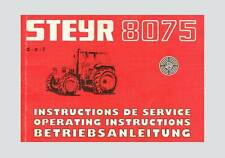 STEYR 8075 Traktor Betriebsanleitung Original 1984