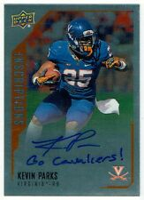 UNDRAFTED VIRGINIA RB KEVIN PARKS- 2015 UPPER DECK INSCRIPTIONS AUTOGRAPH CARD