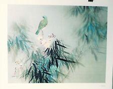 DAVID LEE ART HUMMINGBIRD 1978 LITHOGRAPH VINTAGE PRINT CHINESE ARTIST