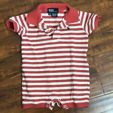 Polo Ralph Lauren Striped Baby Boy Bodysuit 9M Cotton Mesh Snaps One Piece