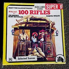 Película de película 8mm 100 rifles Burt Reynolds Raquel Welch Super 8 escenas seleccionadas Blanco y Negro